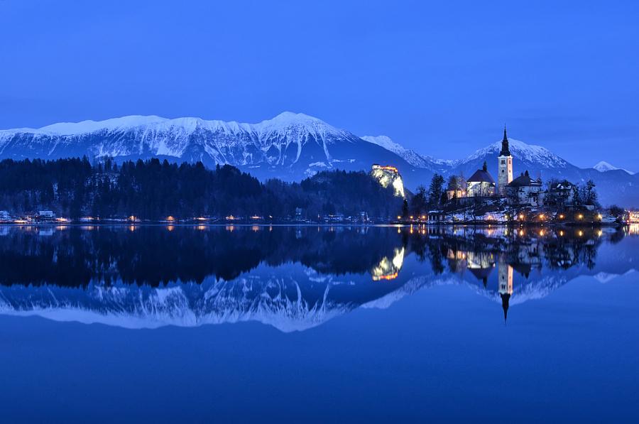 Часовня Успения, Блед, Словения. Автор фото: Чилла Зелко