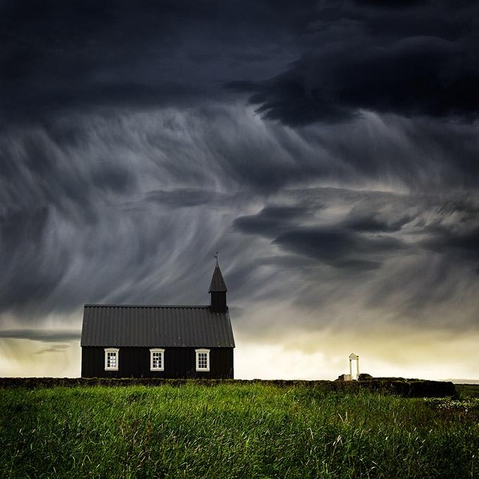 Церковь Budir, Snaefellsnes, Исландия. Автор фото: Люцина Кох