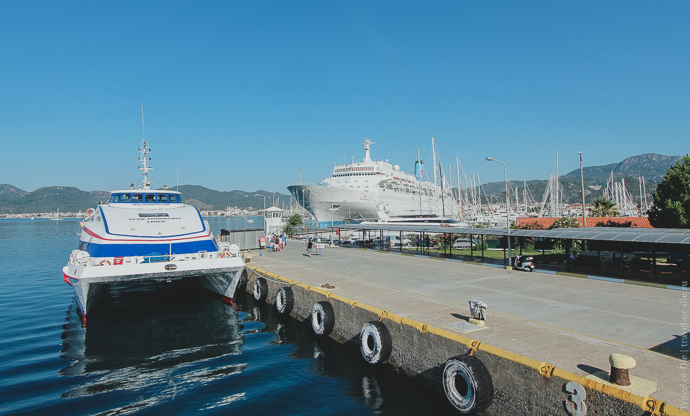 Из Мармариса на Родос самостоятельно. Порт Мармариса