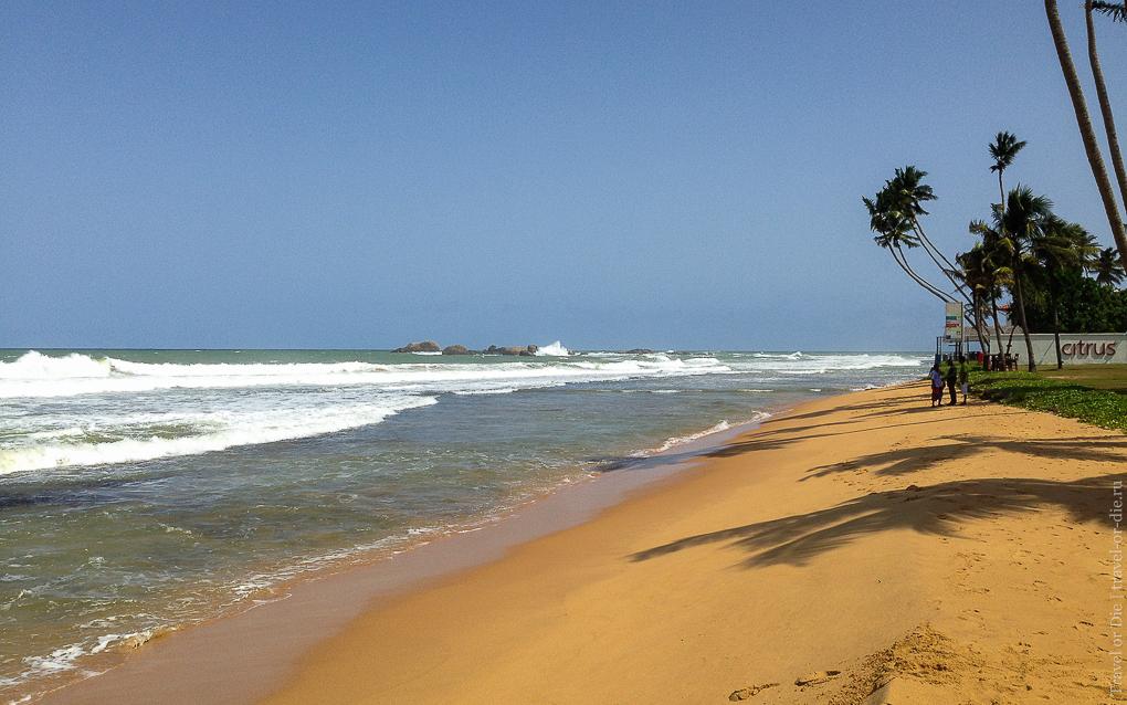 Citrus Hikkaduwa 4*, пляж
