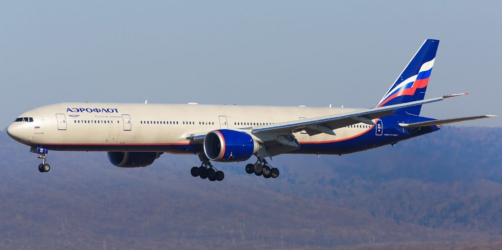 Аэрофлот Москва Шанхай Boeing 777 300ER