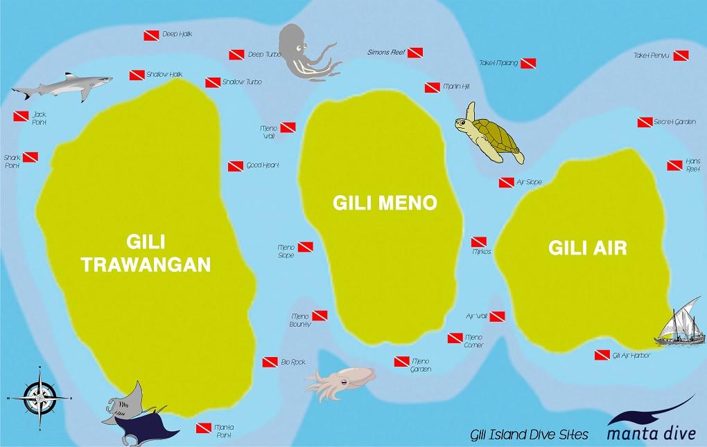 острова гили карта