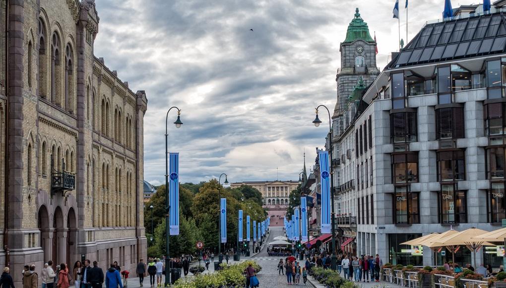 Достопримечательности Осло. Улица Карла-Йохана