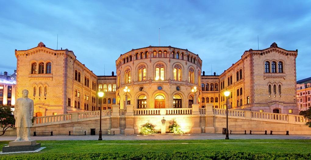 Достопримечательности Осло. Здание Парламента Норвегии