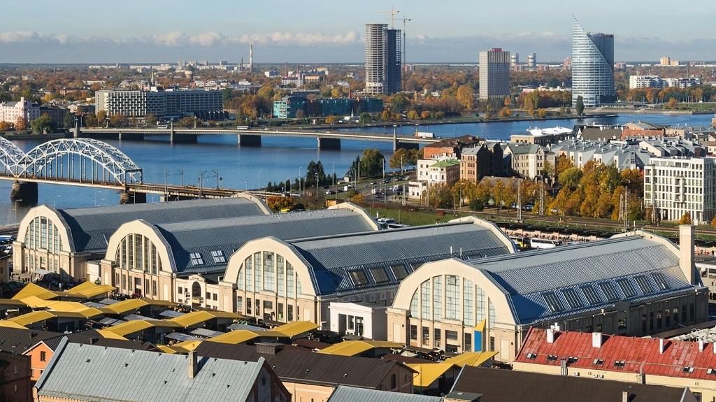 Достопримечательности Риги - центральный рынок рига