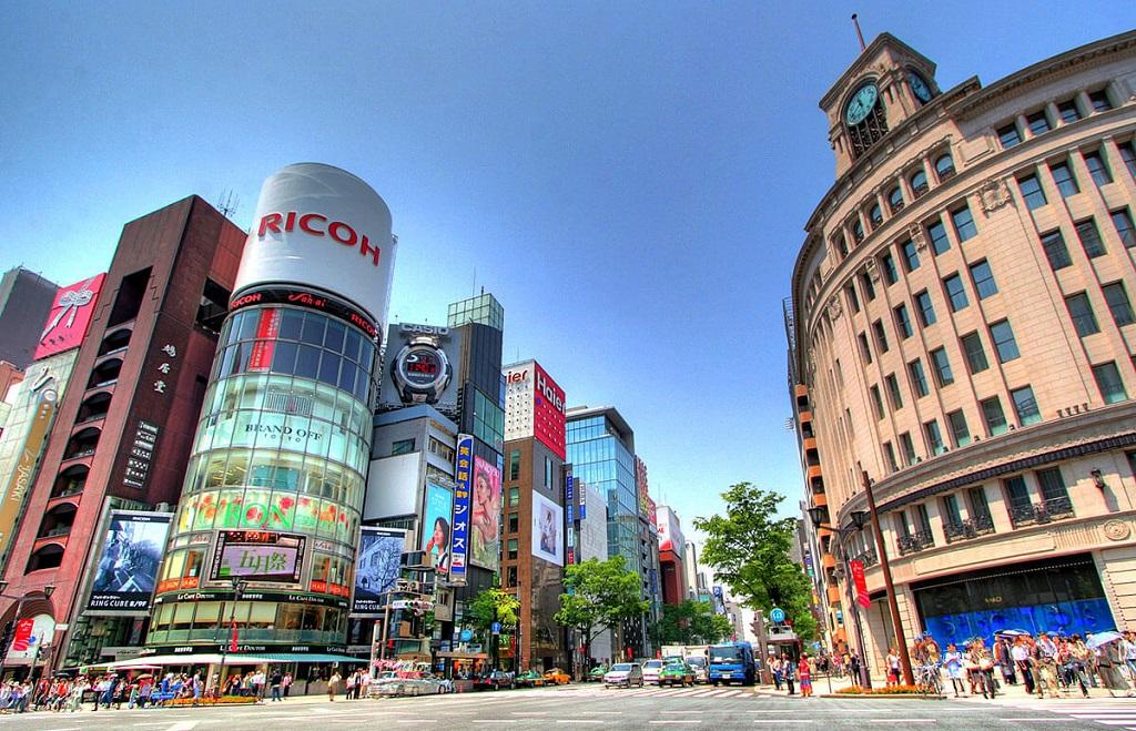 Достопримечательности Токио - Район Гиндза