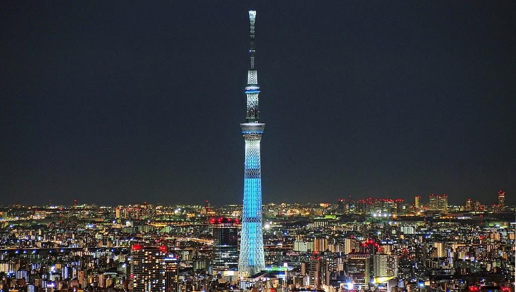 """Достопримечательности Токио - Телебашня """"Токийское небесное дерево"""""""