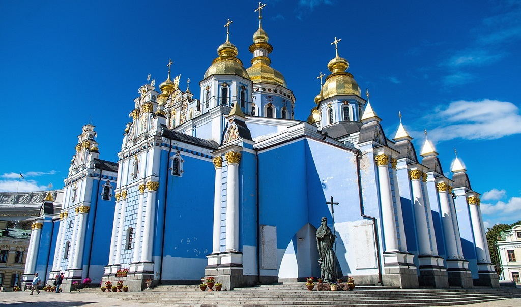 Достопримечательности Киева - Михайловский Златоверхий монастырь