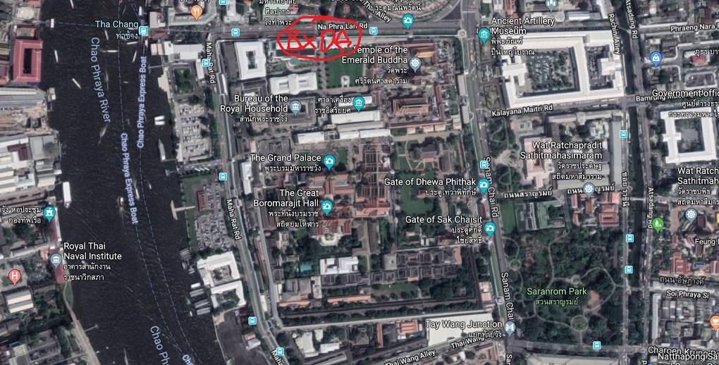 вход в королевский дворец в бангкоке