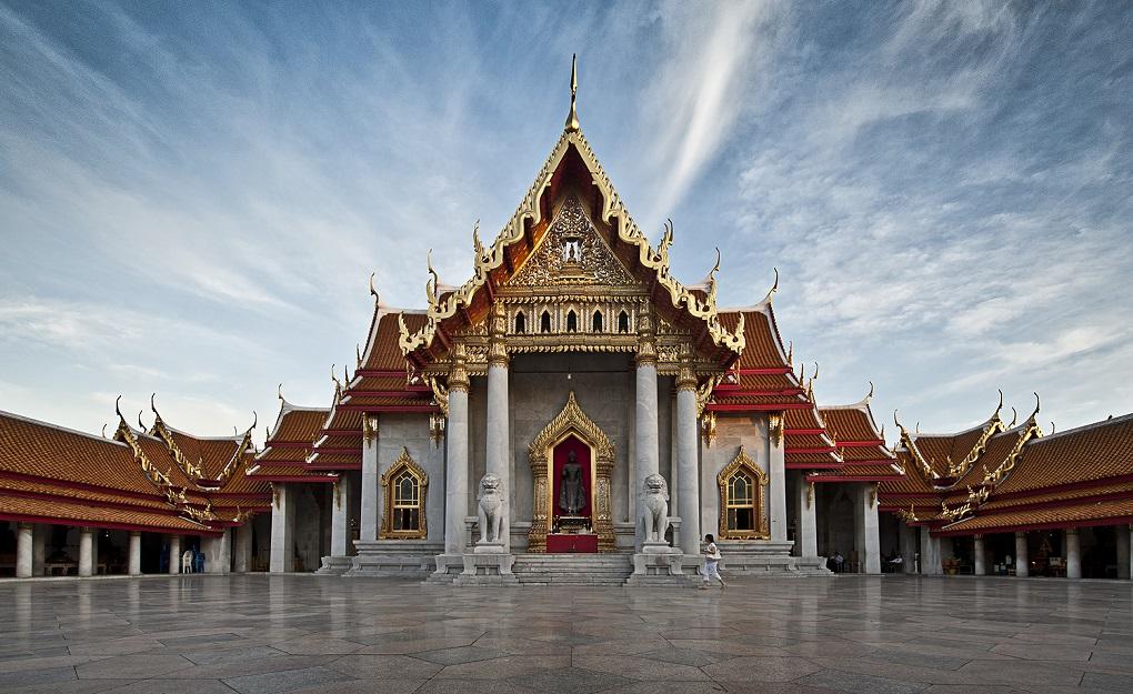 Достопримечательности Бангкока - Мраморный храм (Ват Бенчамабопхит)