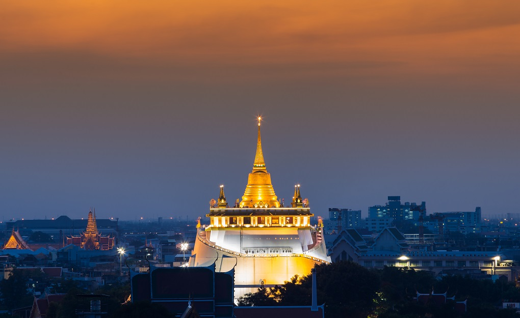 Достопримечательности Бангкока - Золотая гора (Ват-Сакет)