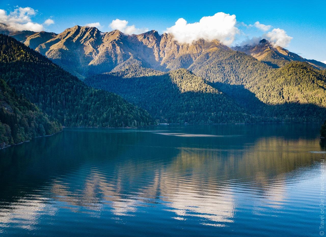 достопримечательности абхазии - Озеро Рица