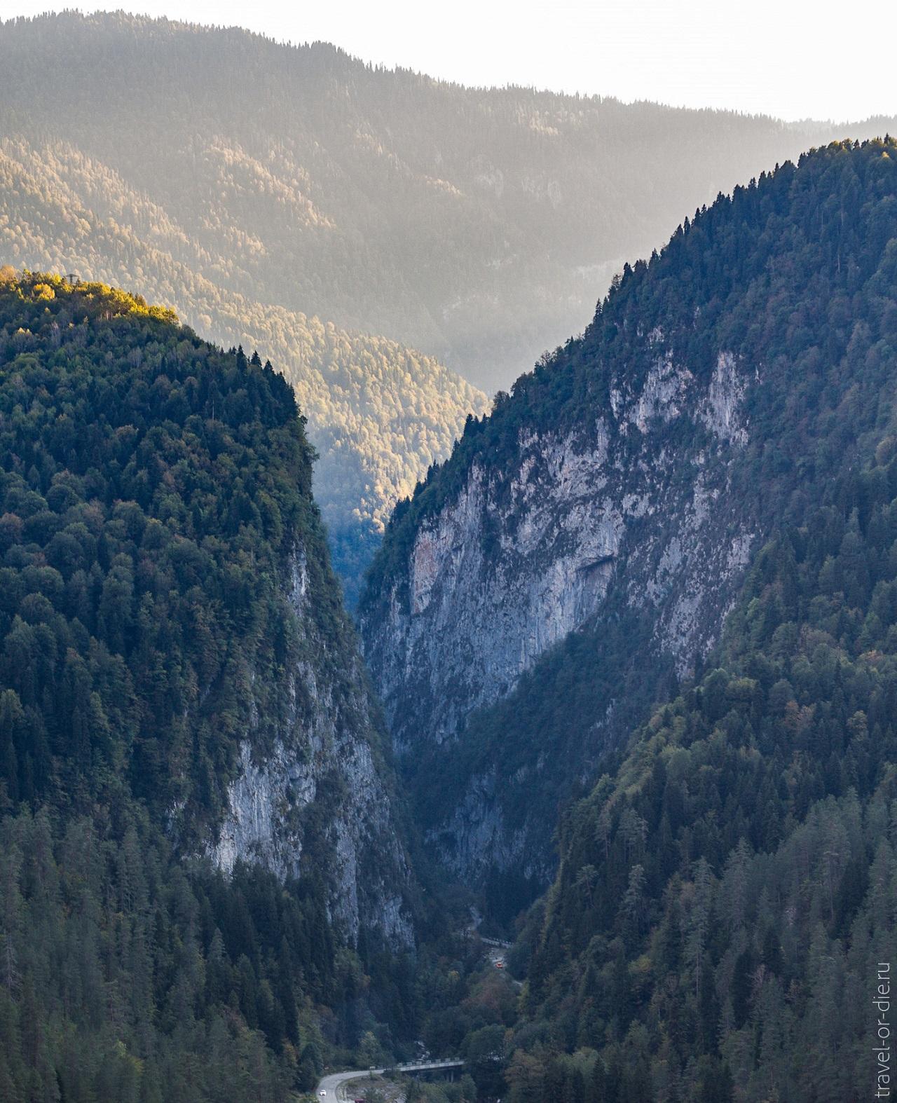достопримечательности абхазии - Юпшарский каньон