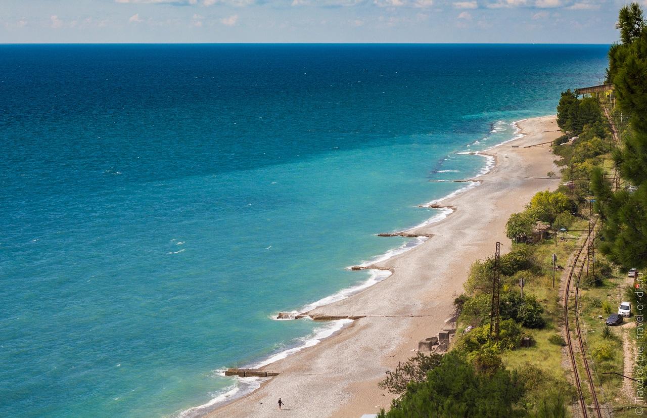достопримечательности абхазии - пляжи абхазии