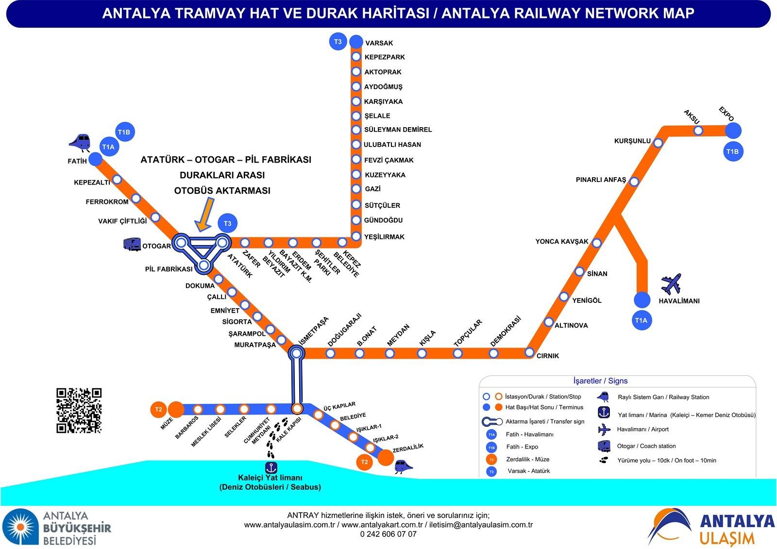 Как добраться до Калеичи в Анталии на трамвае