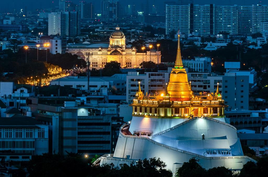 Храмы Бангкока Храм Золотая гора (Ват-Сакет) The Golden Mount (Wat Saket)