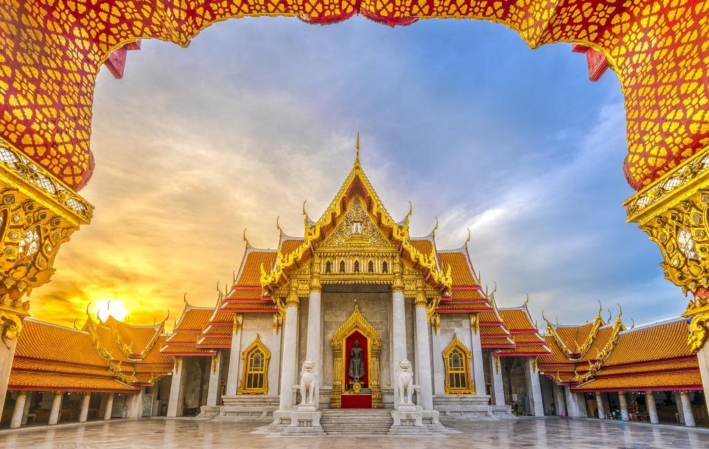 Мраморный храм (Ват Бенчамабопхит) Marble Temple (Wat Benchamabophit)