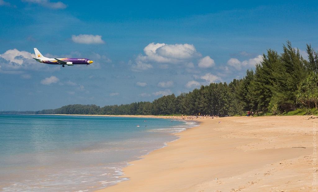 лучший пляж пхукета май као с самолётами