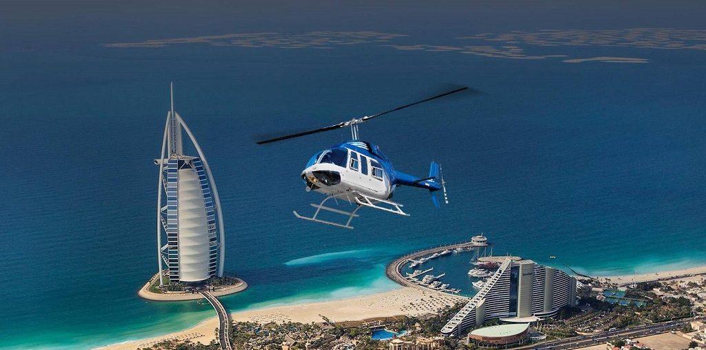 Полет на вертолете над Дубаем цена экскурсии, отзывы