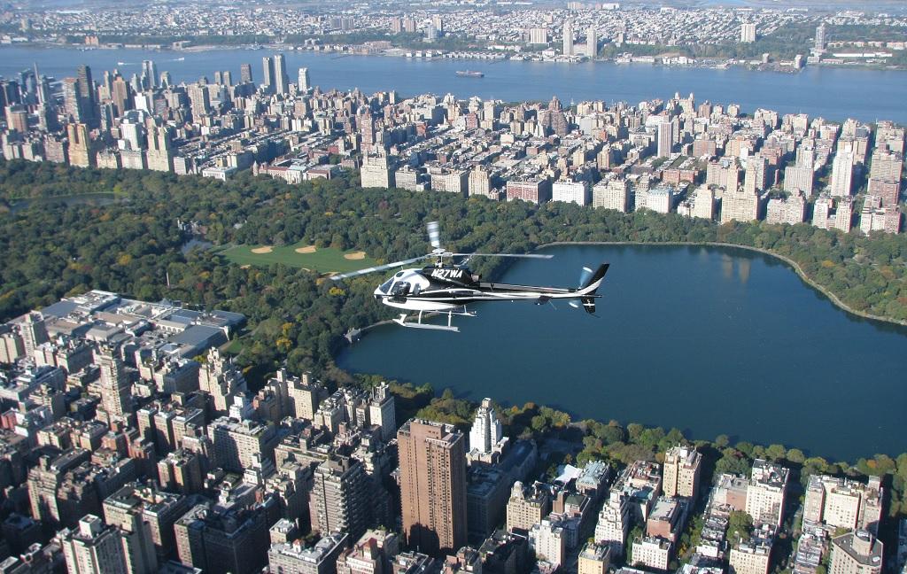 Центральный парк на вертолетной экскурсии в нью йорке