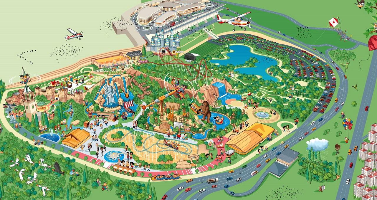 парк Исфанбул Виаленд в Стамбуле карта