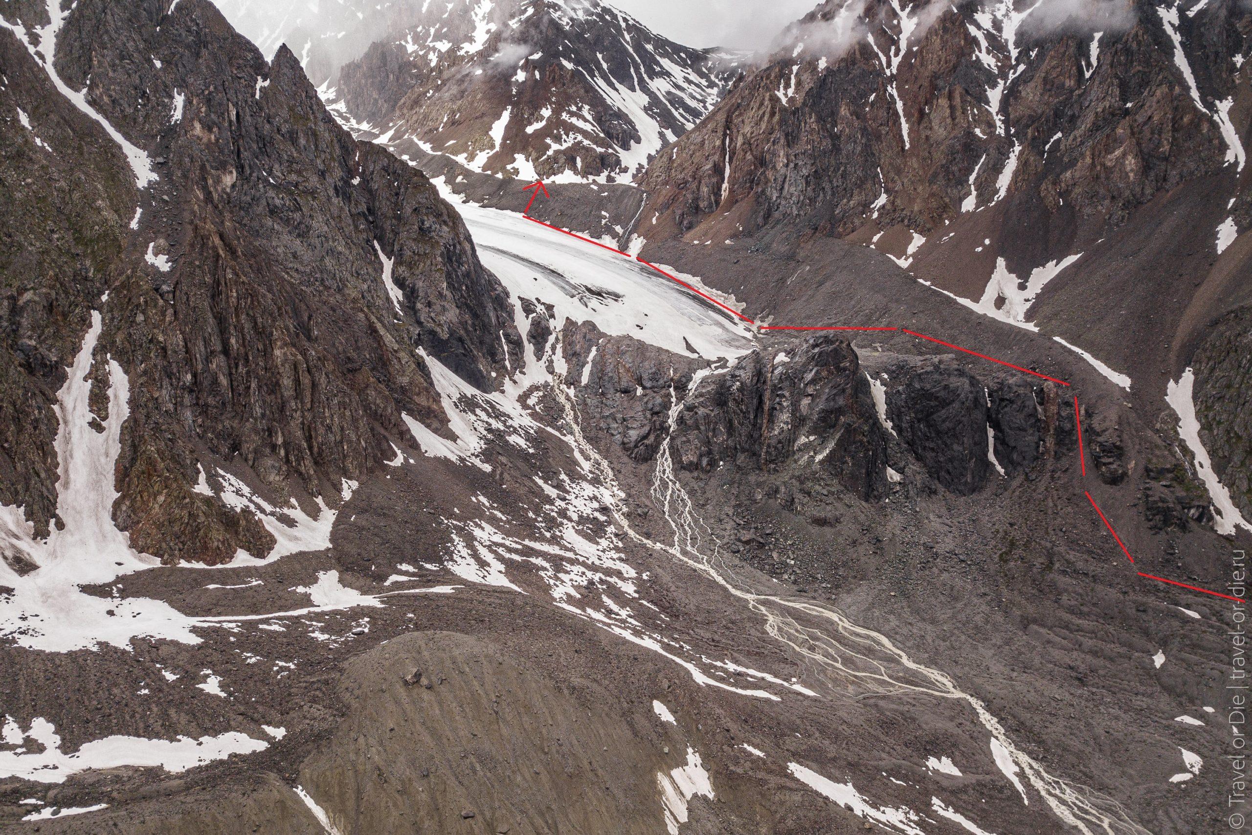подъем на ледник Большой Актру и Голубое озеро