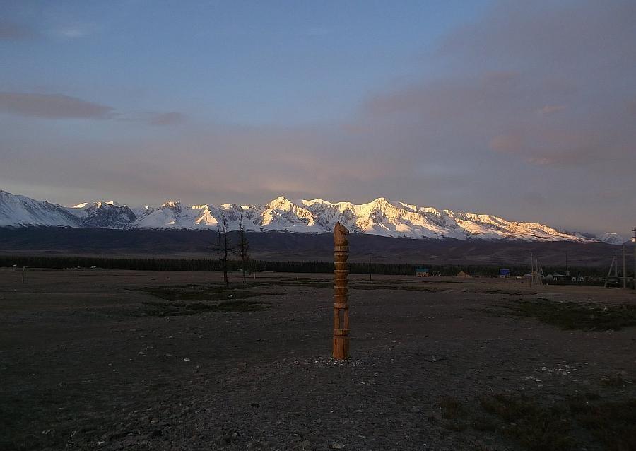 база отдыха курай чуйские альпы вид на горы