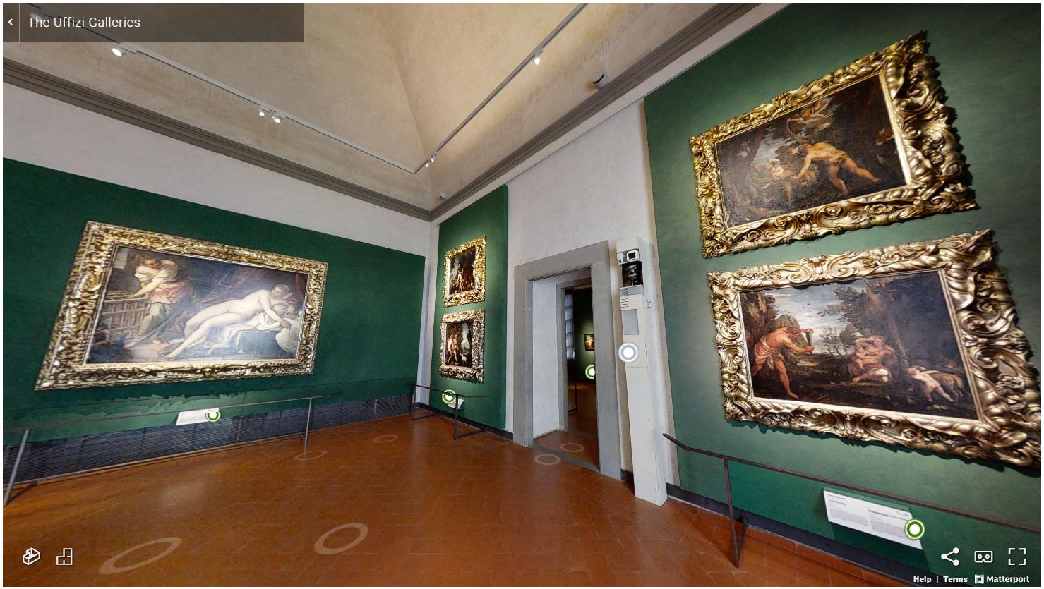 виртуальный тур по галереи уффици на официальном сайте 2