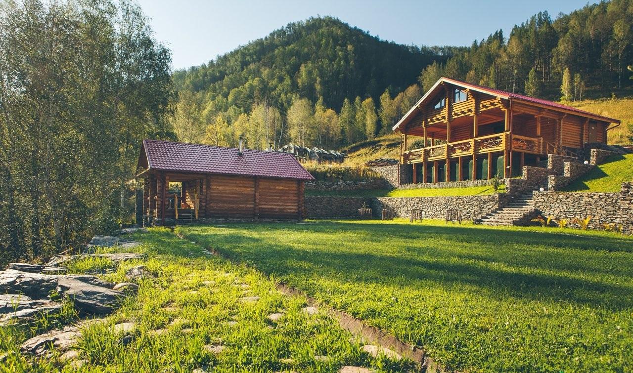 Базы отдыха на Чемале цены, недорого, у Катуни, с бассейном, фото