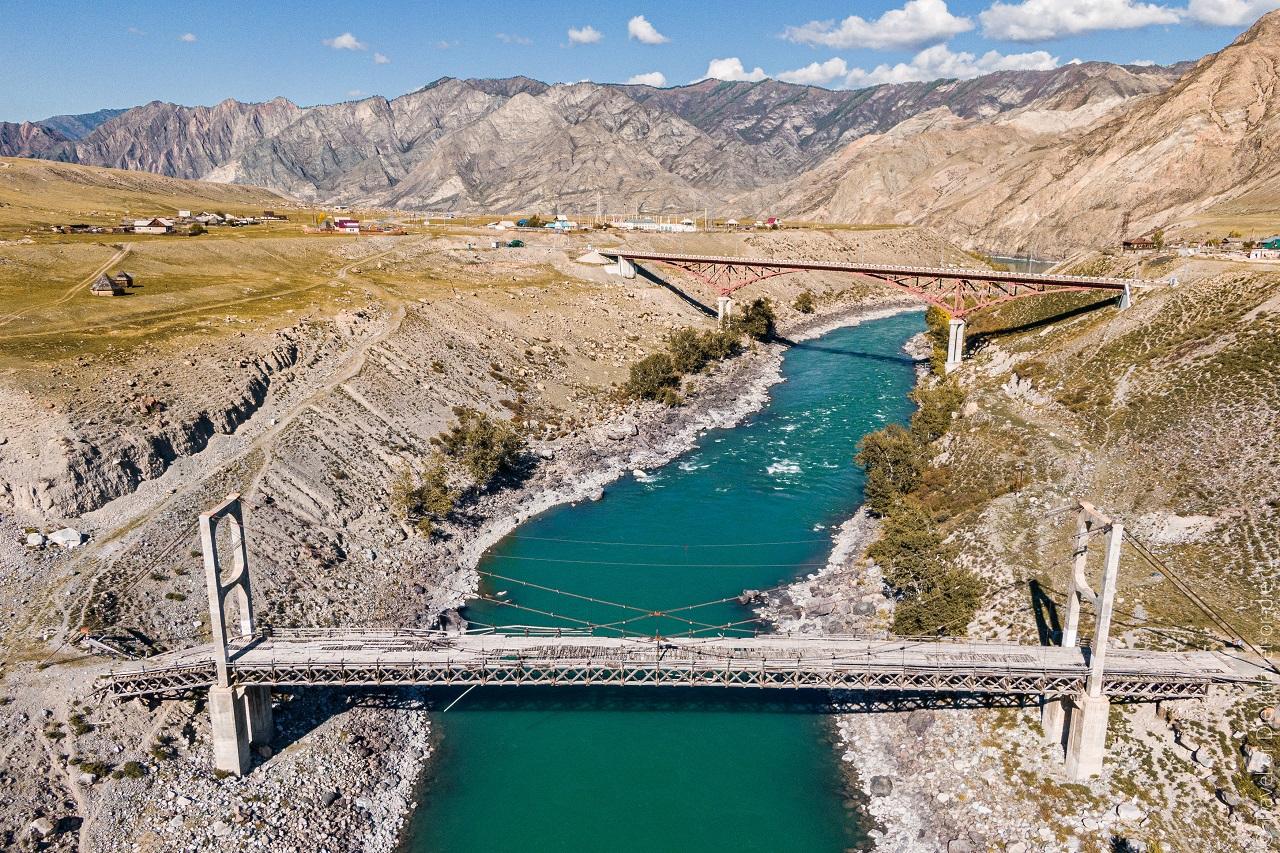 Ининский мост (Цаплинский мост), Горный Алтай как доехать, фото, на карте