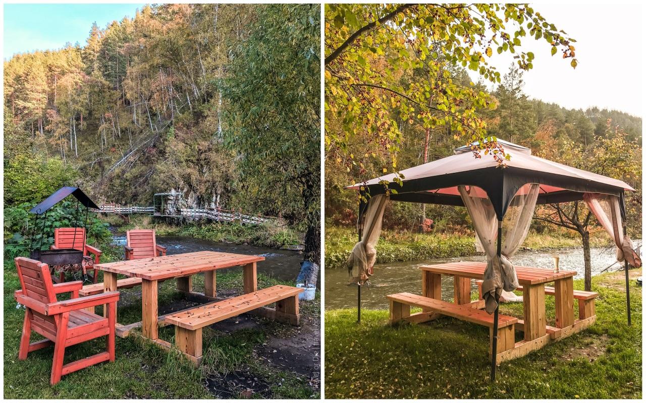 эко парк сад пионов чемал беседки на берегу