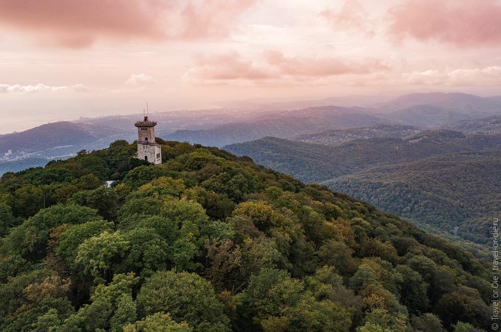 Достопримечательности рядом с Сочи - Смотровая на горе Ахун