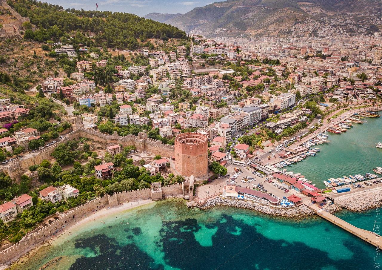 Красная башня в Алании (Кызыл Куле) Турция история, как добраться, экскурсии