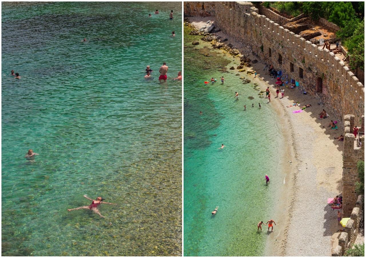 красная башня аланья пляж терсане бич