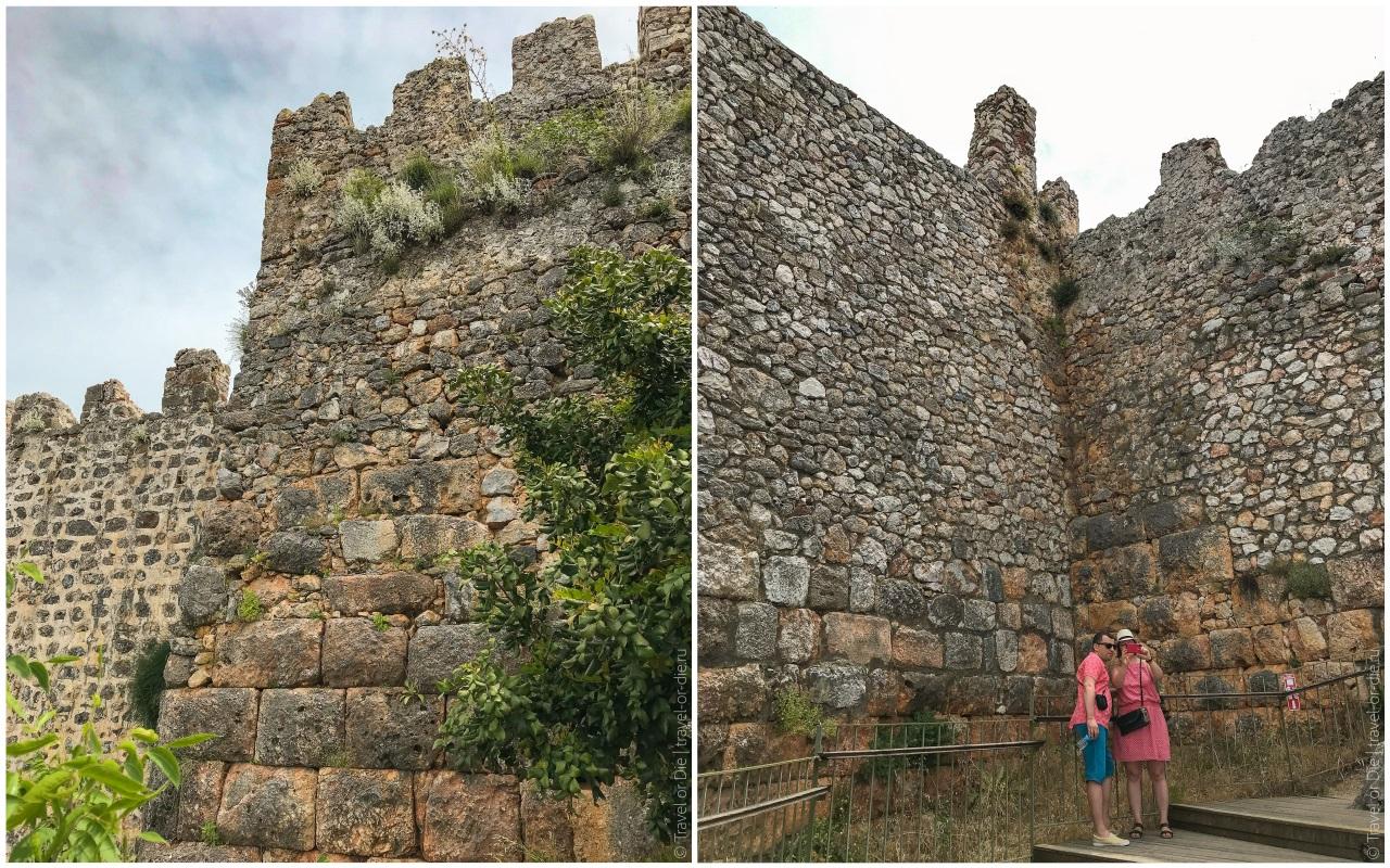 крепость в алании стены