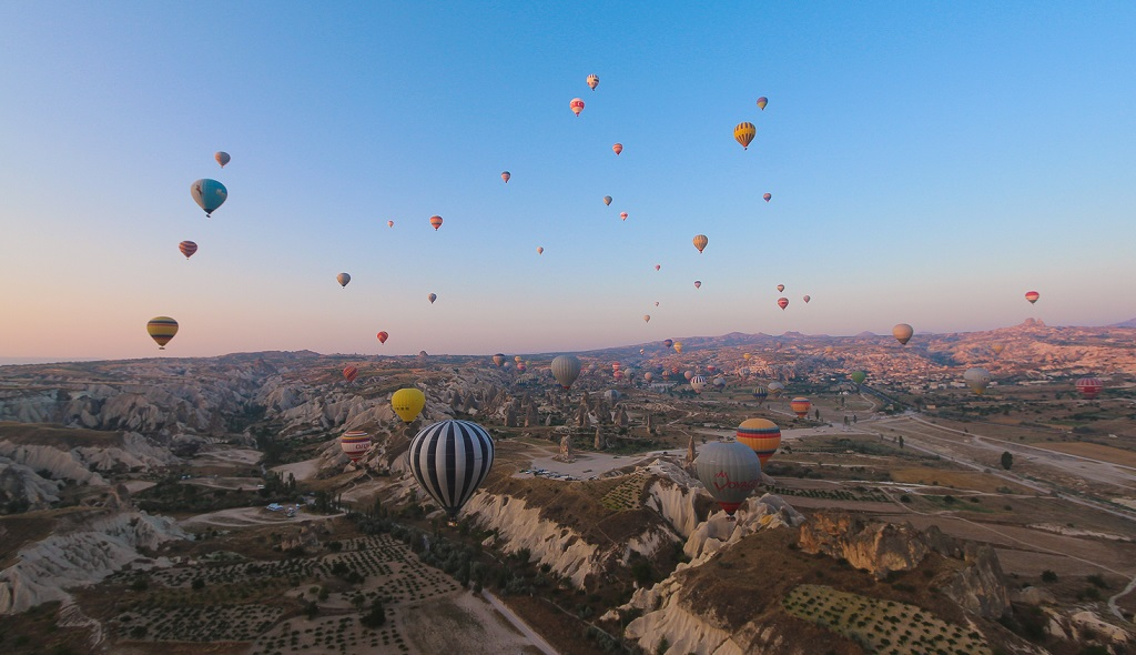 лучшие экскурсии в Турции - Полет на воздушном шаре в Каппадокии