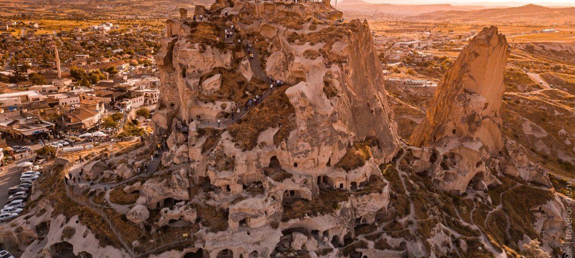 крепость учхисар каппадокия турция