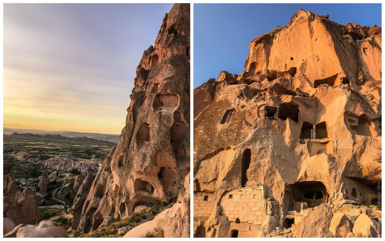 крепость учхисар турция у подножия