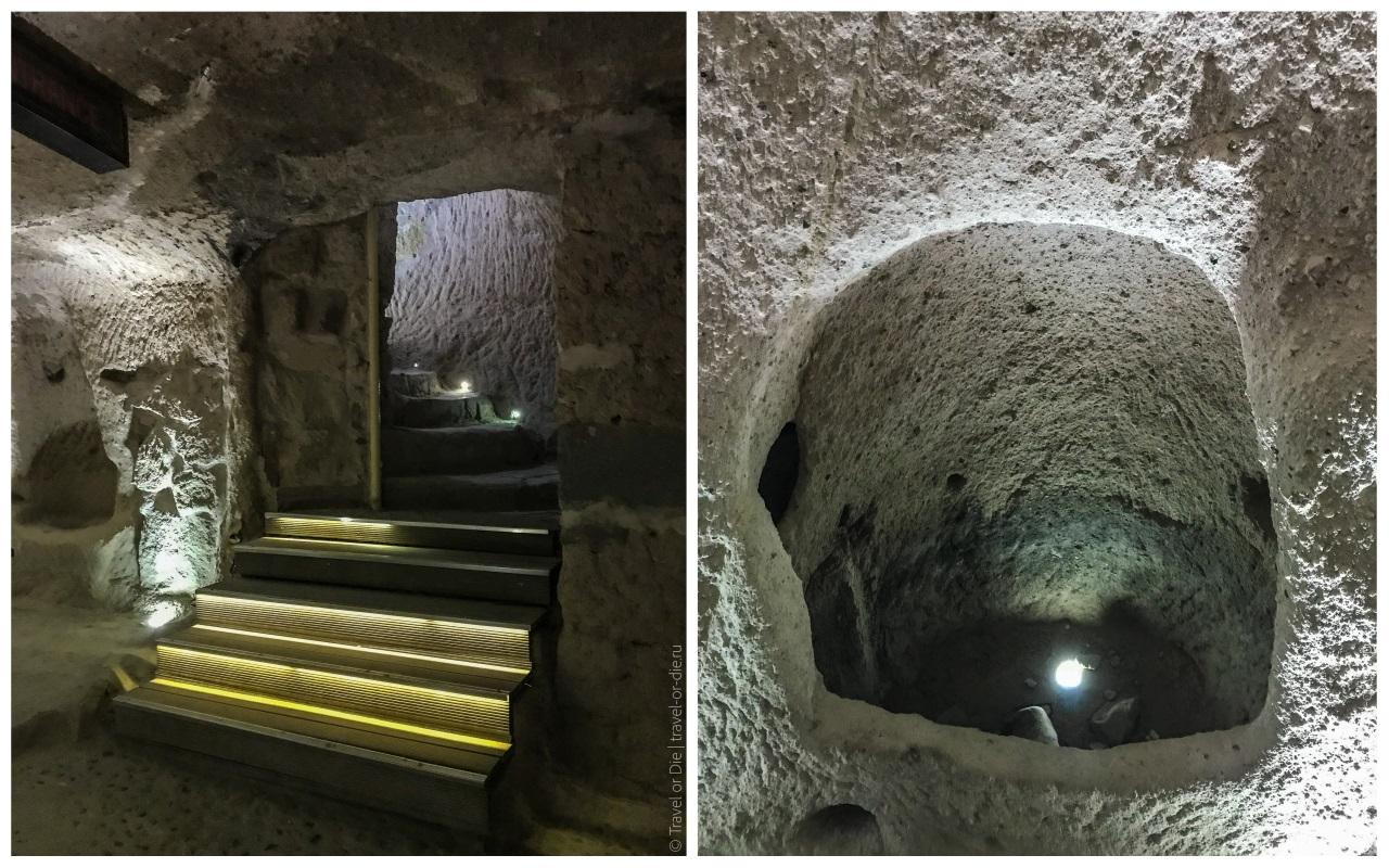 помещения внутри крепости учхисар