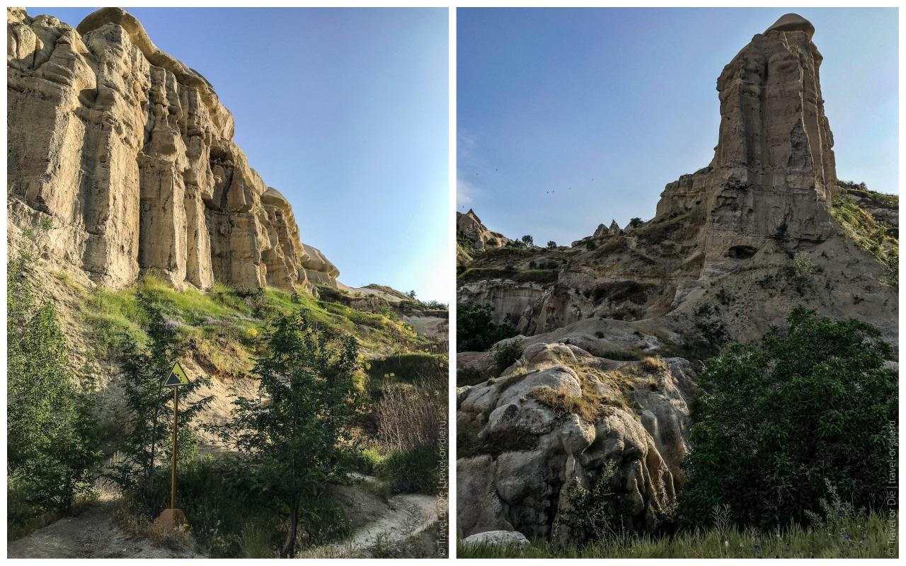 скалы ущелья голубиной долины