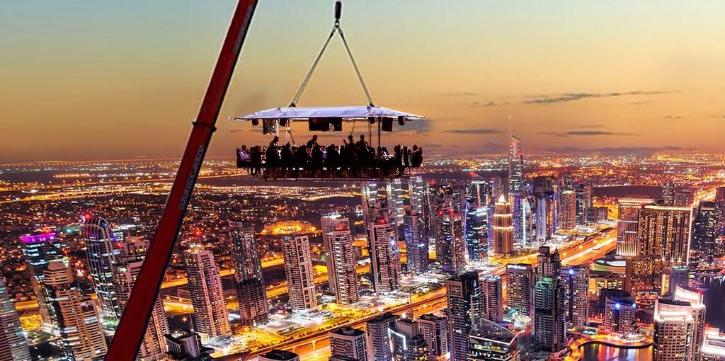 Обед и ужин на высоте (в небе), Дубай цена, отзывы