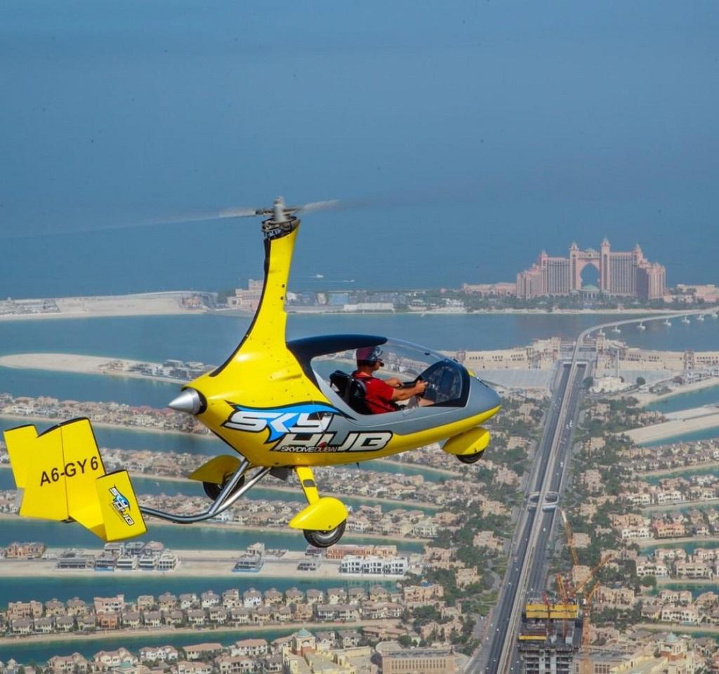 полёт на гирокоптере дубай - отель Атлантис