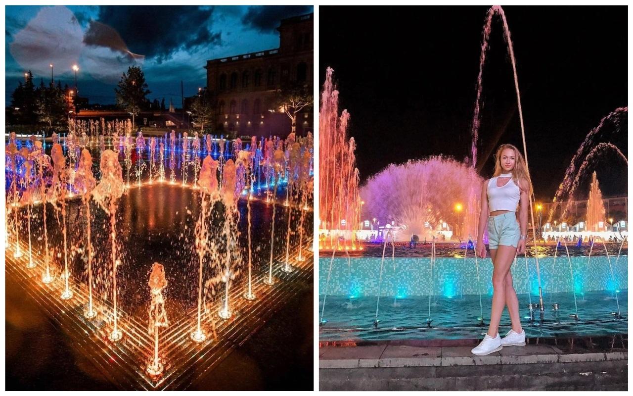 Лучшие места для фотосессий в Калининграде - Поющие фонтаны в Биржевом сквере