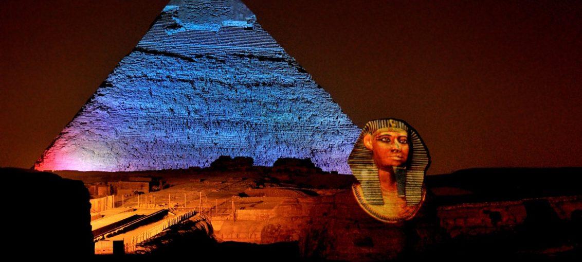 Световое шоу на пирамидах в Гизе, Египет цена фото