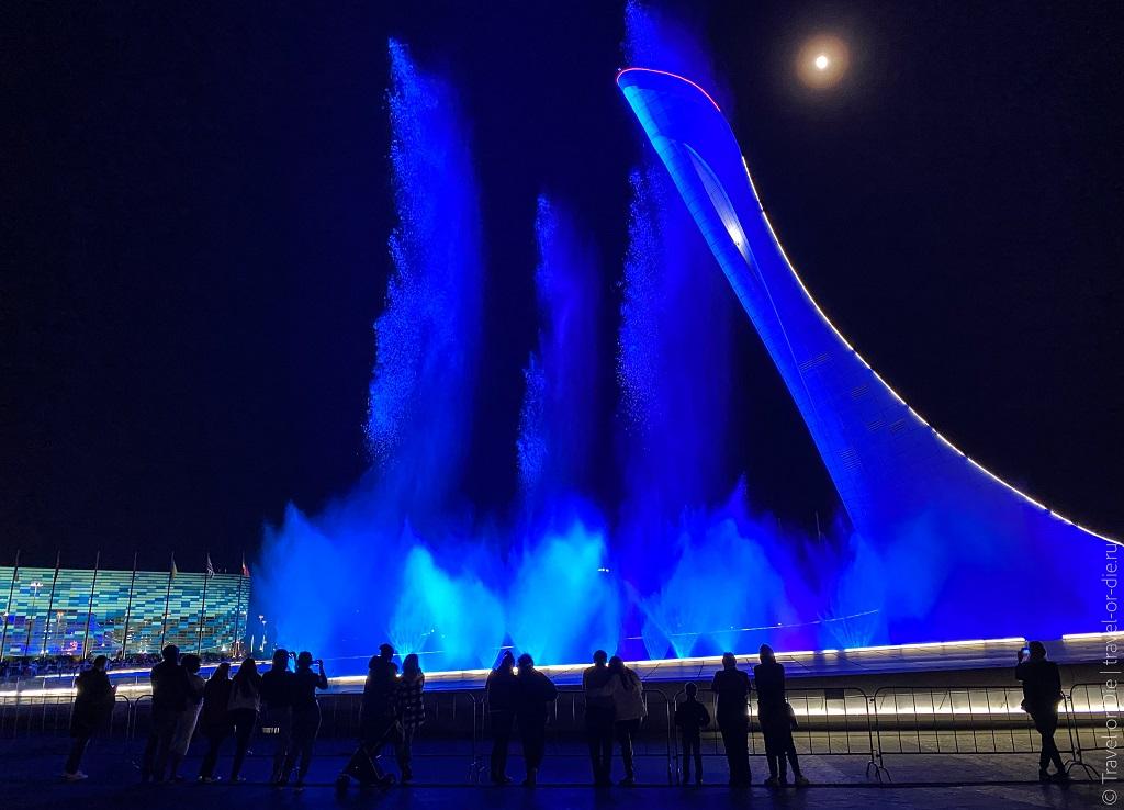 экскурсия олимпийский сочи - поющие фонтаны