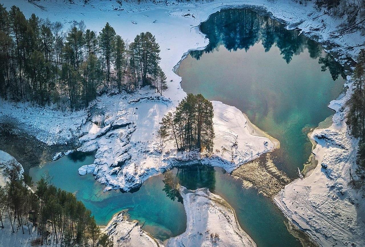 достопримечательности чемала - Голубые озера в Аскате