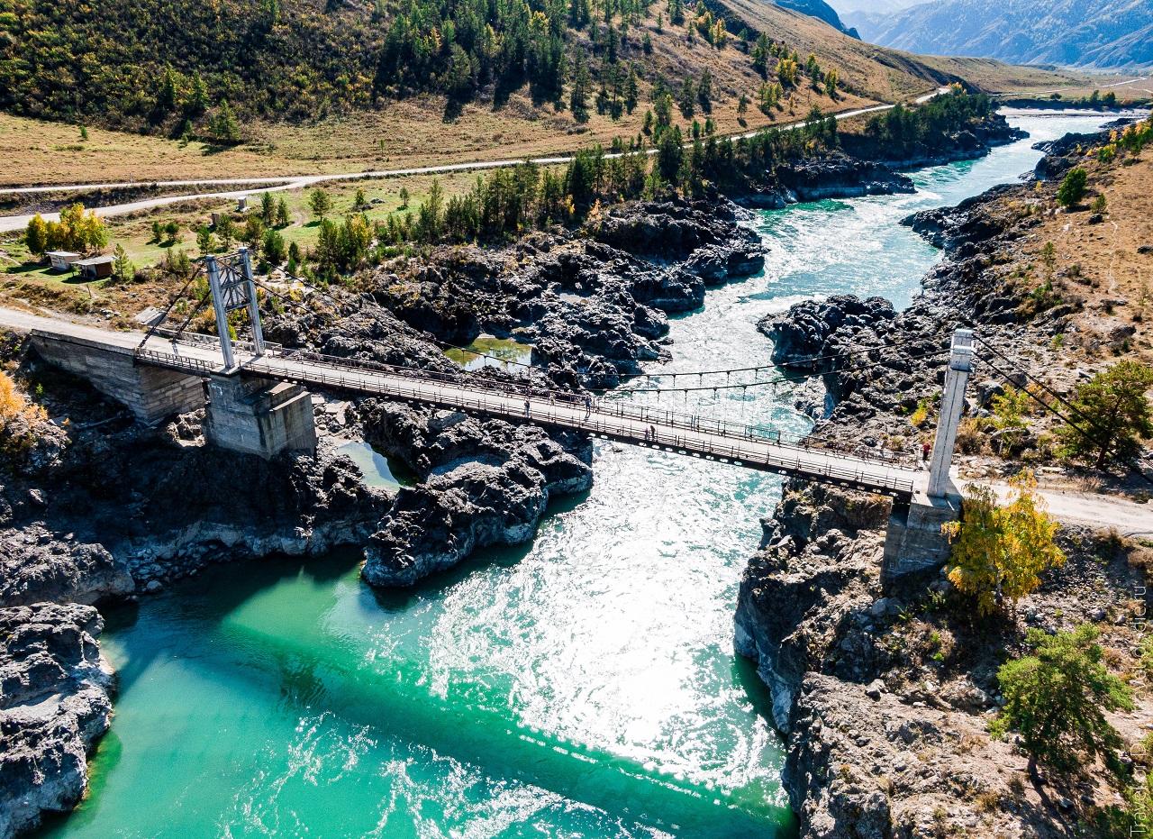 достопримечательности чемала - ороктойский мост