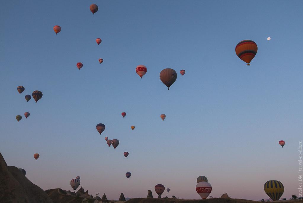 экскурсии из алании в каппадокию - полет на воздушном шаре