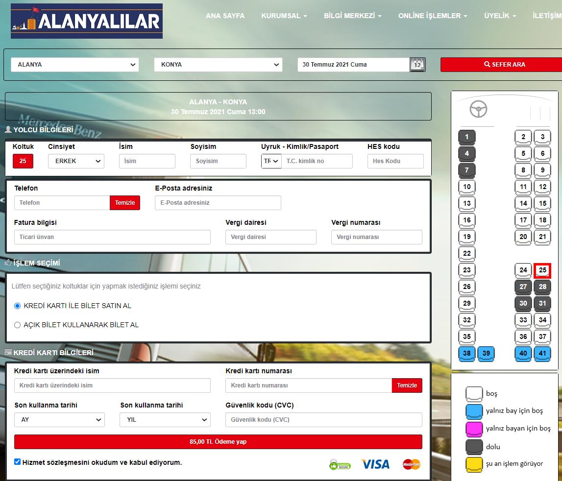 как доехать из алании в каппадокию - турецкие сайты бронирования билетов на автобусы