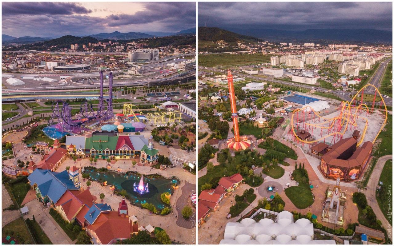 шоу фонтанов в олимпийском парке - сочи-парк